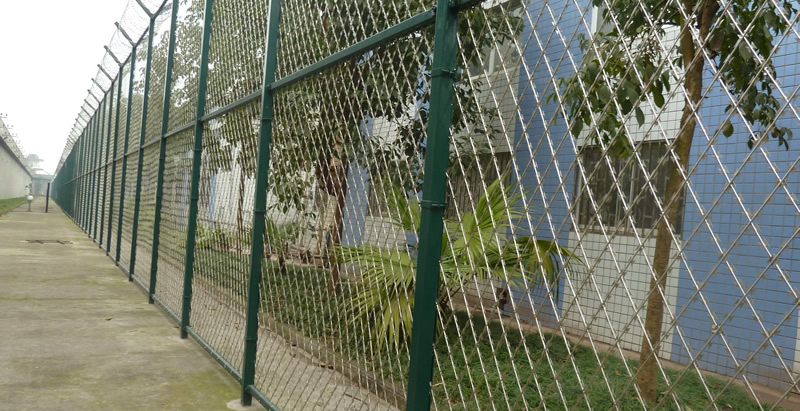 Galvanized Steel Welded Razor Wire Mesh Security Fence Panel